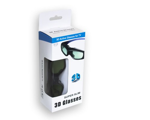 2x universal 3d shutter 3d brille super slim für infrarot 3d